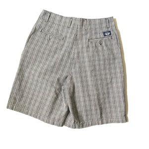 Vintage plaid high rise khaki shorts 14 black grey